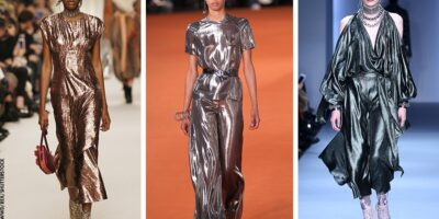 mix metallic looks with your wardrobe