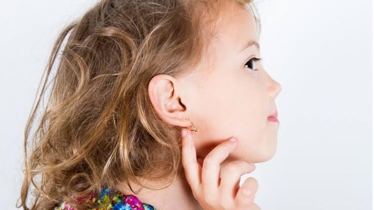 Child pierced ears