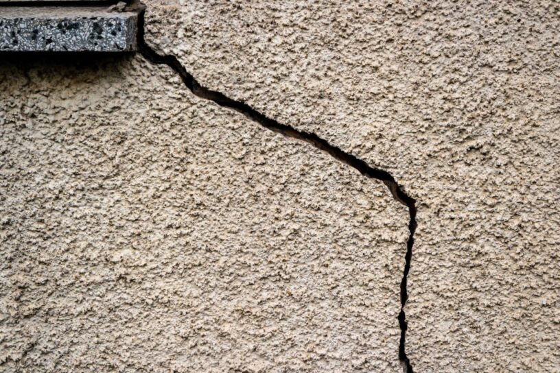 Cracked plaster