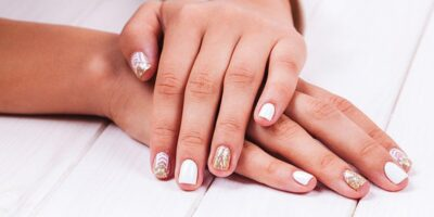 summer manicure and nail art.