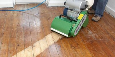 sand a wood, timber or parquet