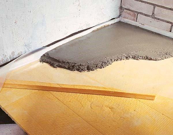 Insulation under floor