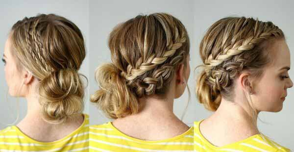 plait a French braid in simple steps