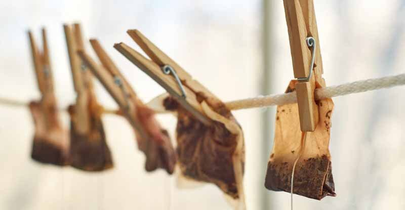 ways to recycle used tea bags