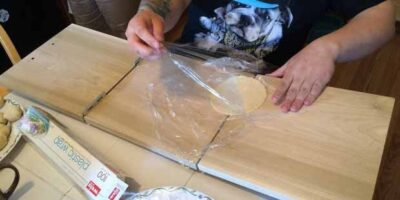 Make a tortilla press