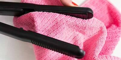 clean a hair straightener or curling iron