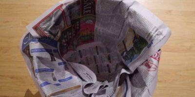 make a newspaper bin liner in easy steps