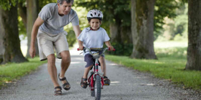 teach a child to ride a bicycle