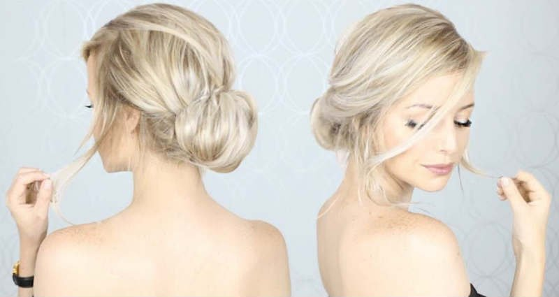 make an easy casual updo