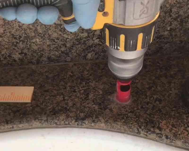 drill granite correctly