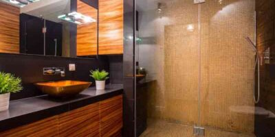 brighten a dark bathroom
