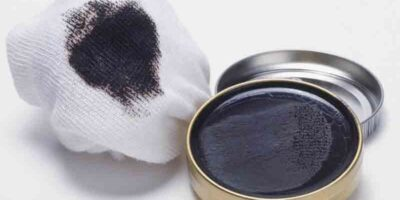 remove shoe cream stains from fabric