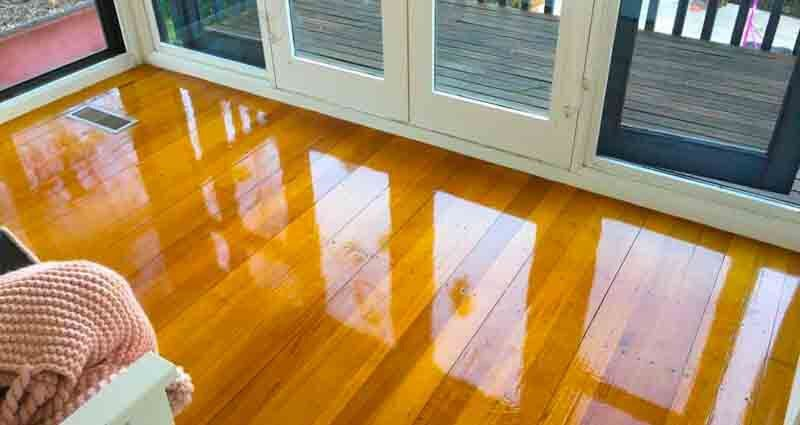 Seal floorboards properly