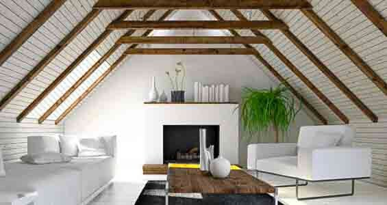 design with a sloping roof