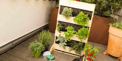 build a mini garden for the balcony
