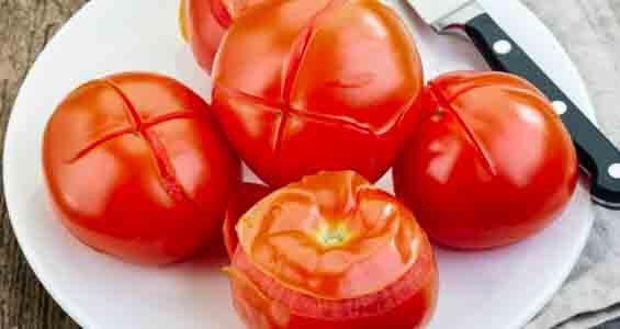 Peel tomatoes easily