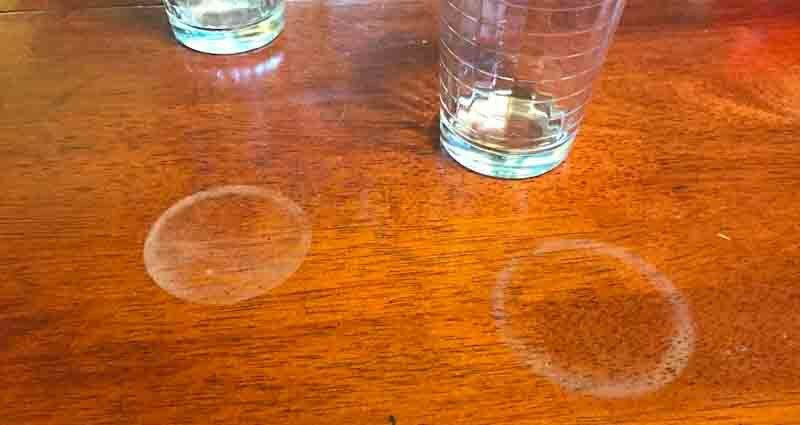 remove glass rings from a wood table