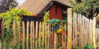 build a rustic stake garden fence