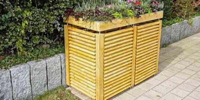 garbage can planter box