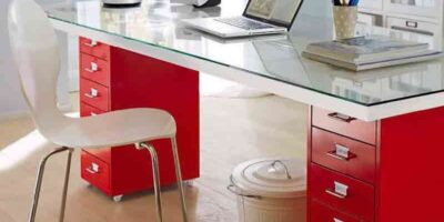upcycle a door into a desk
