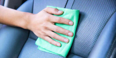 clean car seats correctly