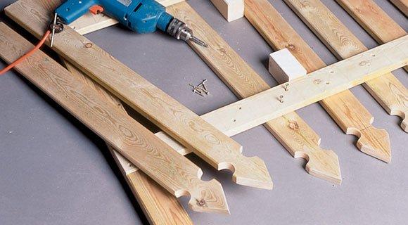 build a wooden garden fence