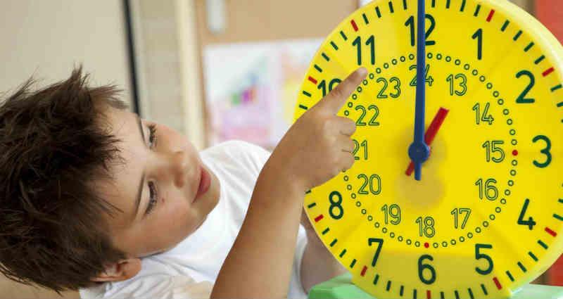 teach a child time management
