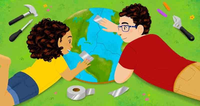 talk to children about protecting the environment