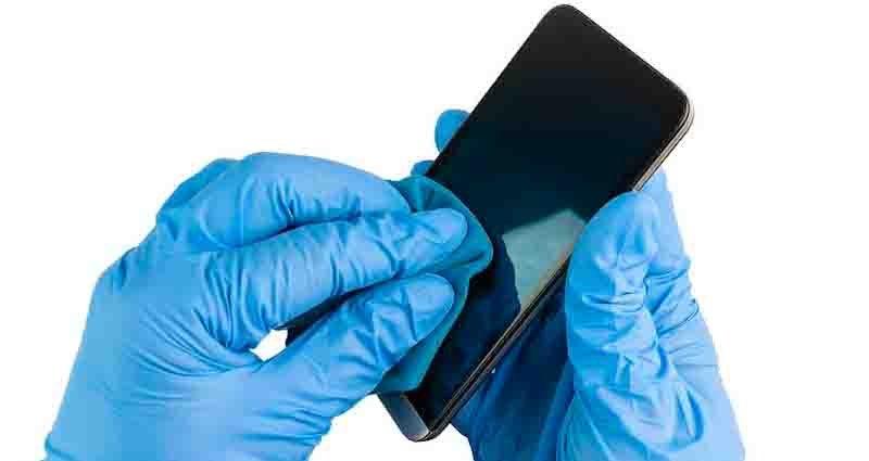 disinfect a phone against coronavirus