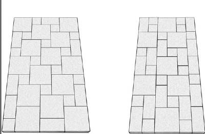 lay paving stones in a driveway