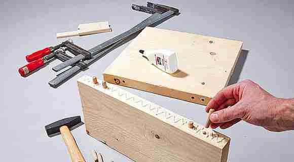 make a DIY industrial coffee table