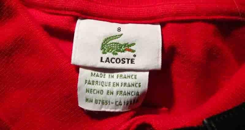fake vs genuine Lacoste polo