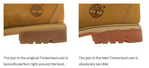 fake or genuine Timberland boots