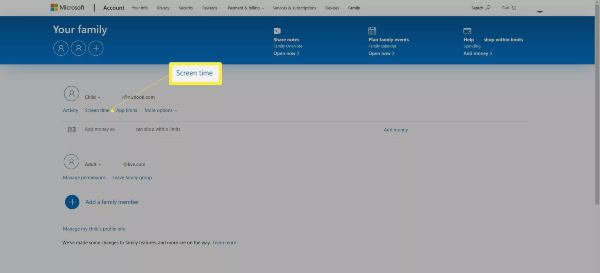 how to setup parental controls in Windows 10