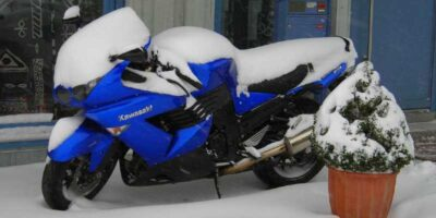 store a motorcycle properly for winter