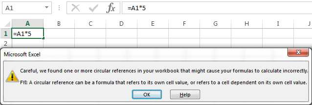 How to find circular references in Excel