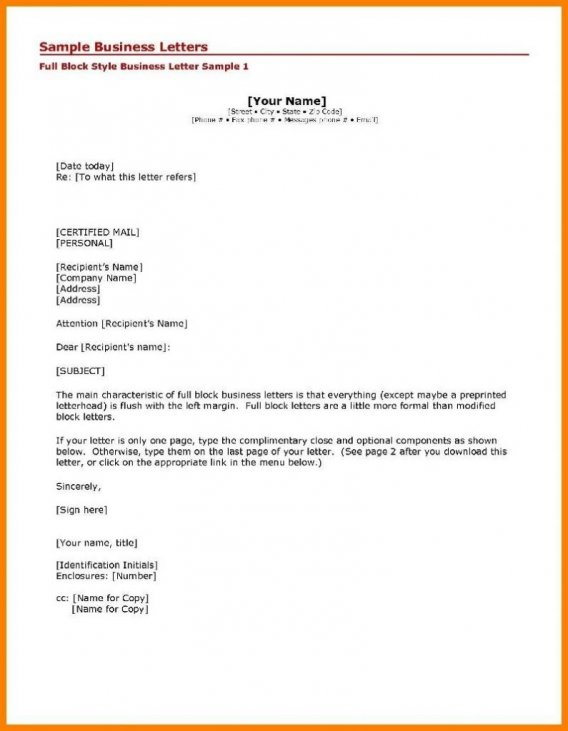 How To Write A Business Letter The