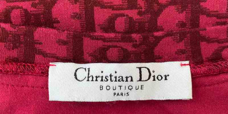 how to tell a fake or genuine Dior shirt