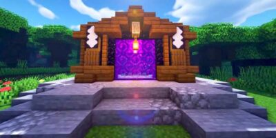 how to build a nether portal in Minecraft