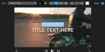 how to add text in imovie