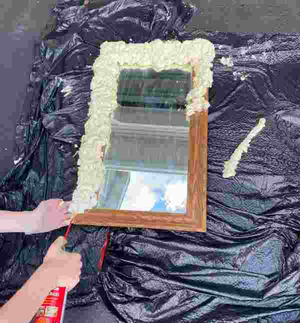 How to make a foam mirror or cloud mirror DIY in simple steps