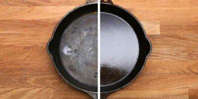 How to season cast iron skillets (1)