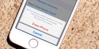 how to erase an iPhone